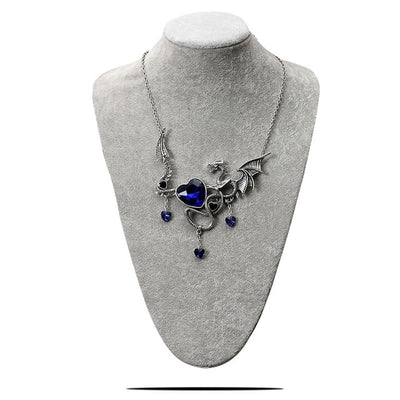 Dragon Crystal Heart Necklace