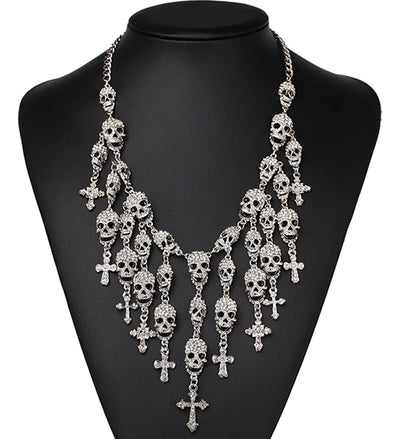 Vintage Skull Heads Necklace