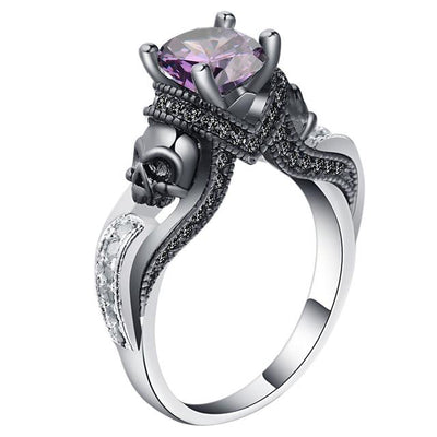 Crystal Evil Skull Rings