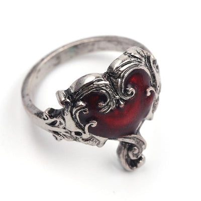 Gothic Punk Vintage Heart Ring
