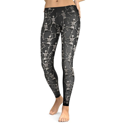 Gothic Skull Casual Leggings