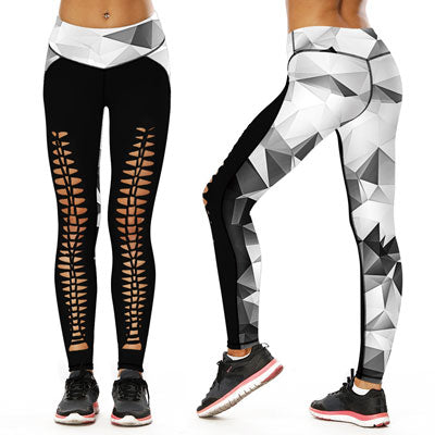 Skull Hollow Yoga Leggings