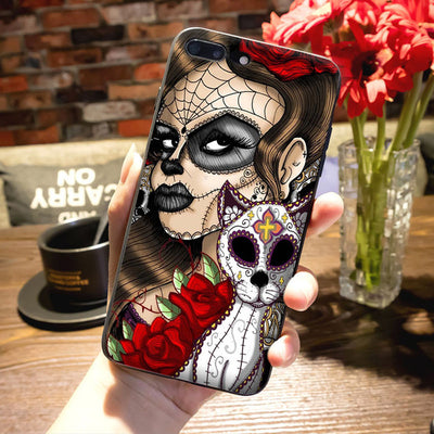 Reaper Skull Skeleton Black Phone Case