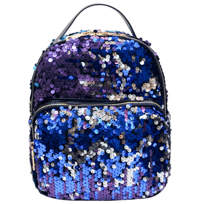 Sequins PU Leather Backpack