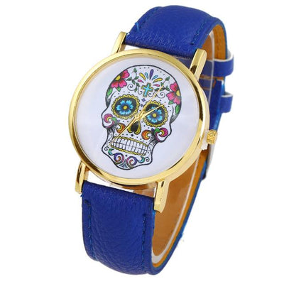 Colorful Skull Wristwatch