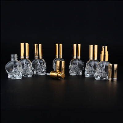Mini Skull Glass Perfume Bottle