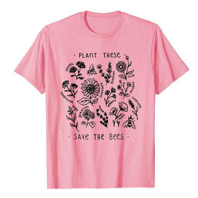 Wildflower Save The Bees T-shirt