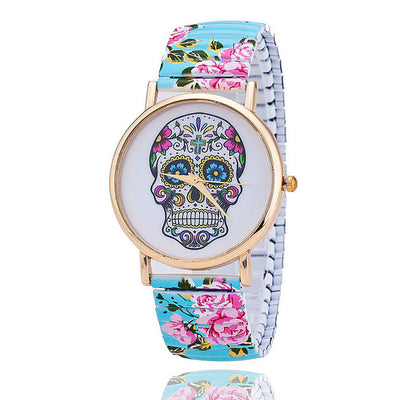 Colorful Skull Wrist Watch