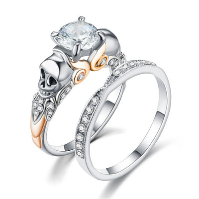 Punk Skull Ring Set