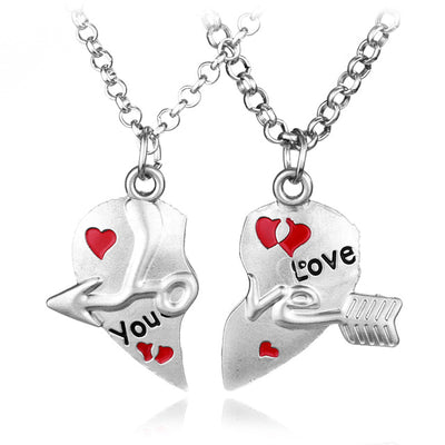 Heart Necklace Couple
