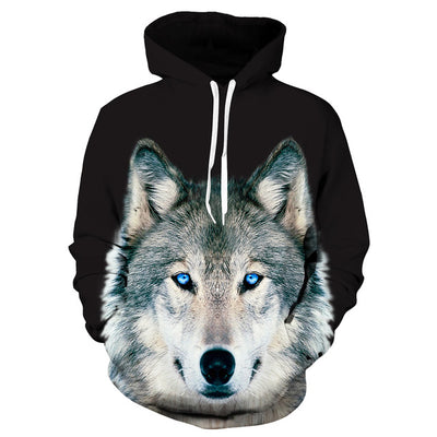 3D Wolf Hoodies - Collection
