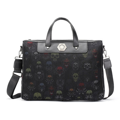 Leather Crossbody Skull Bag