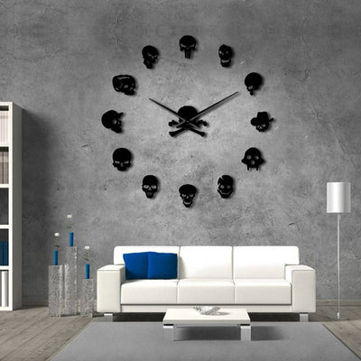 Skull Heads DIY Wall Clock