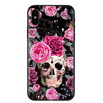 Free - Retro Floral Skull iPhone Case