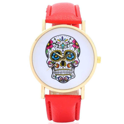 Free - Colorful Skull Wristwatch