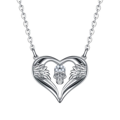 Skull Angel Heart Necklace