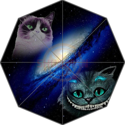 27 Styles Space Cat In Galaxy Patten Umbrella