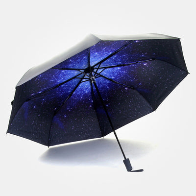 Under Starry Sky Black Umbrella