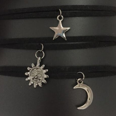 3pcs set Star Moon Sun Choker