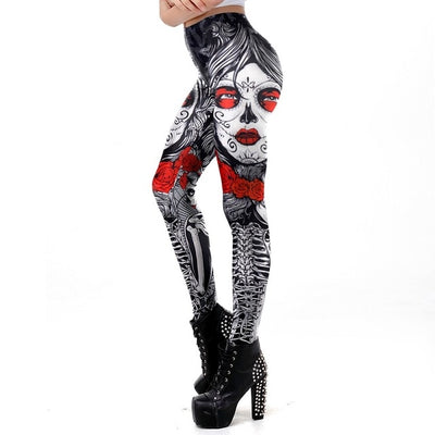 Sugar Rose Skull Leggings