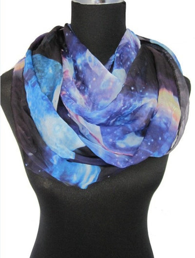 4 Colors Galaxy Space Print Scarf
