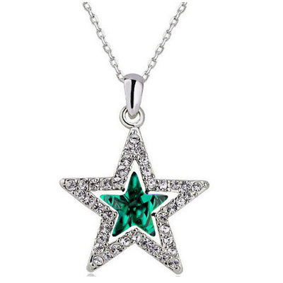 Crystal Shining Star Pendant Necklace
