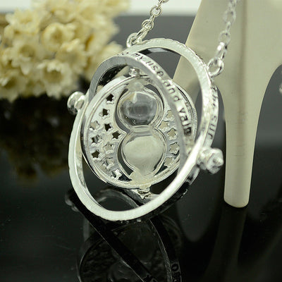 Time Turner Rotating Spins Necklace