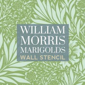 How to stencil a wall with William Morris Marigold design