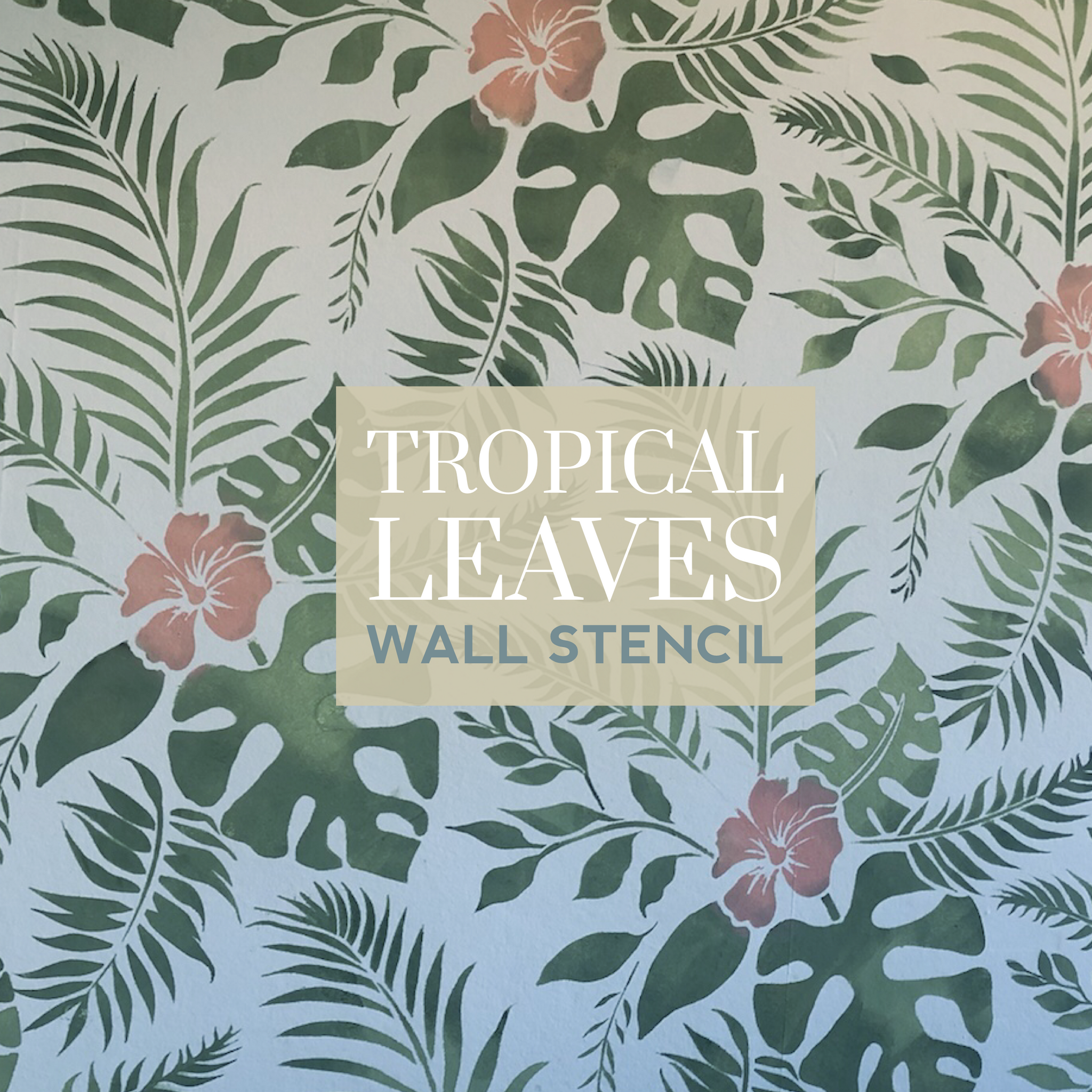 Tropical Leaves Feature Wall