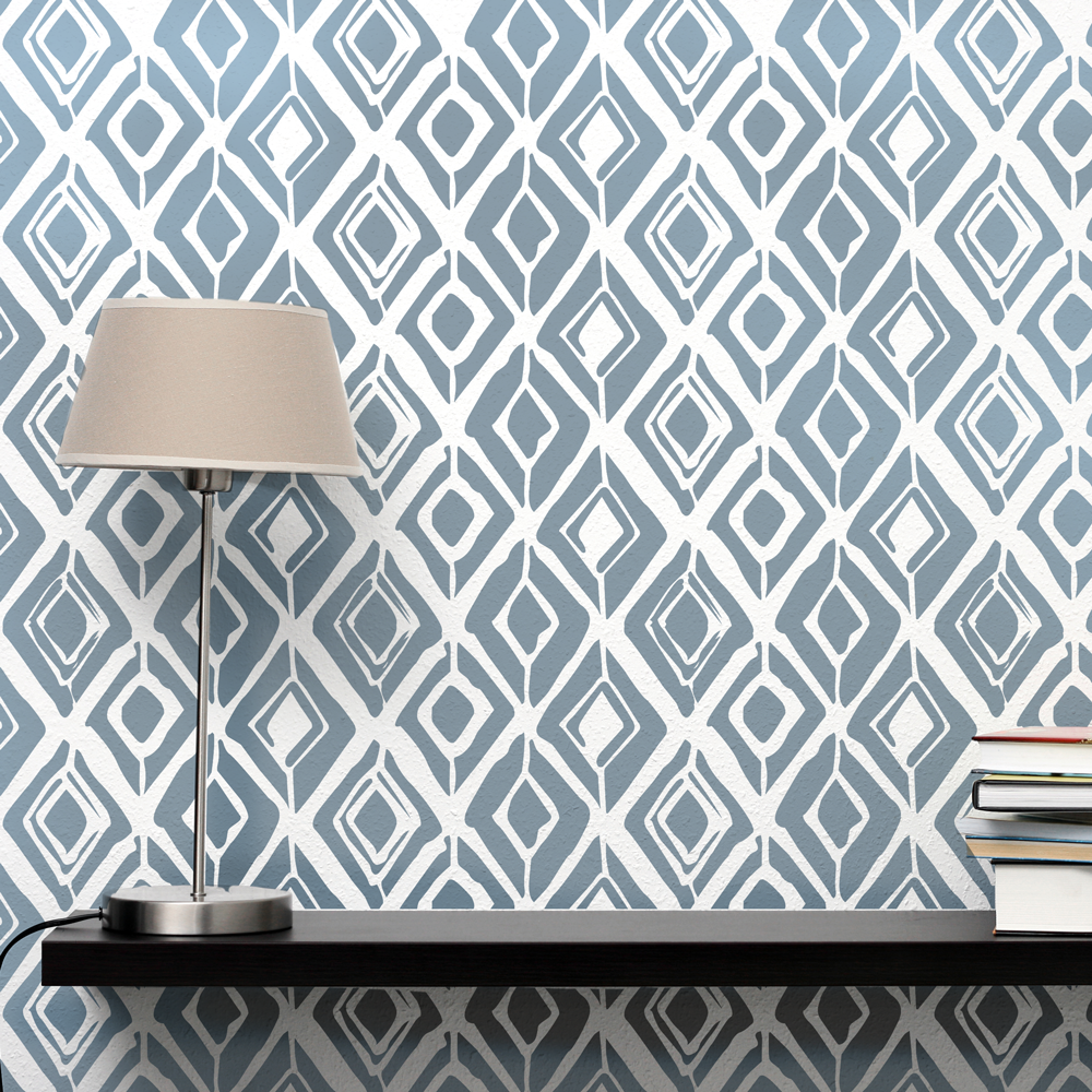 Stencil up decorative wall stencils rough diamond amipublicfo Image collections