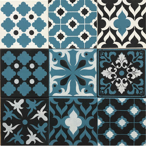 patchwork moroccan tile stencil set by stencil.co.uk