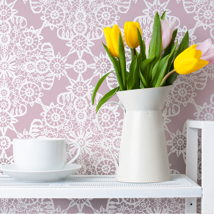 IRISH LACE Wall Stencil - Stencil Up