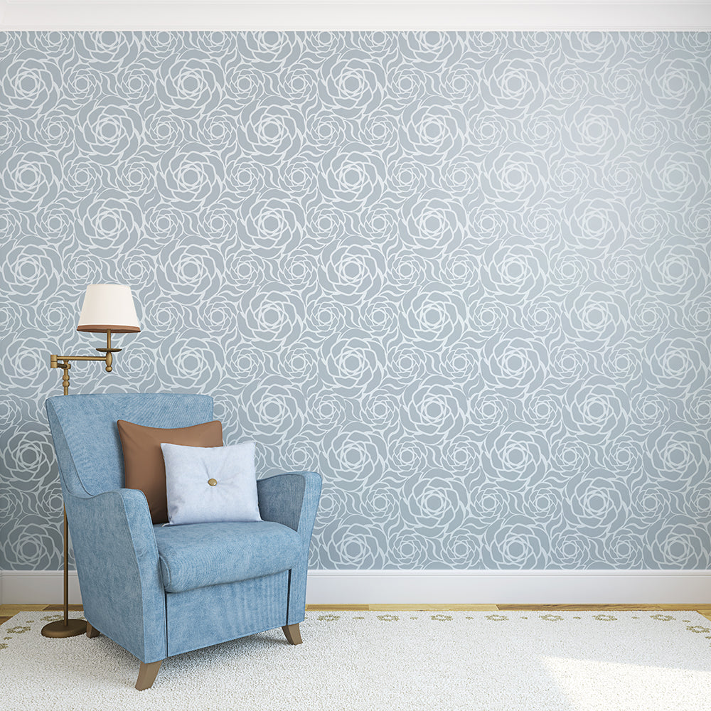 english rose wall stencil