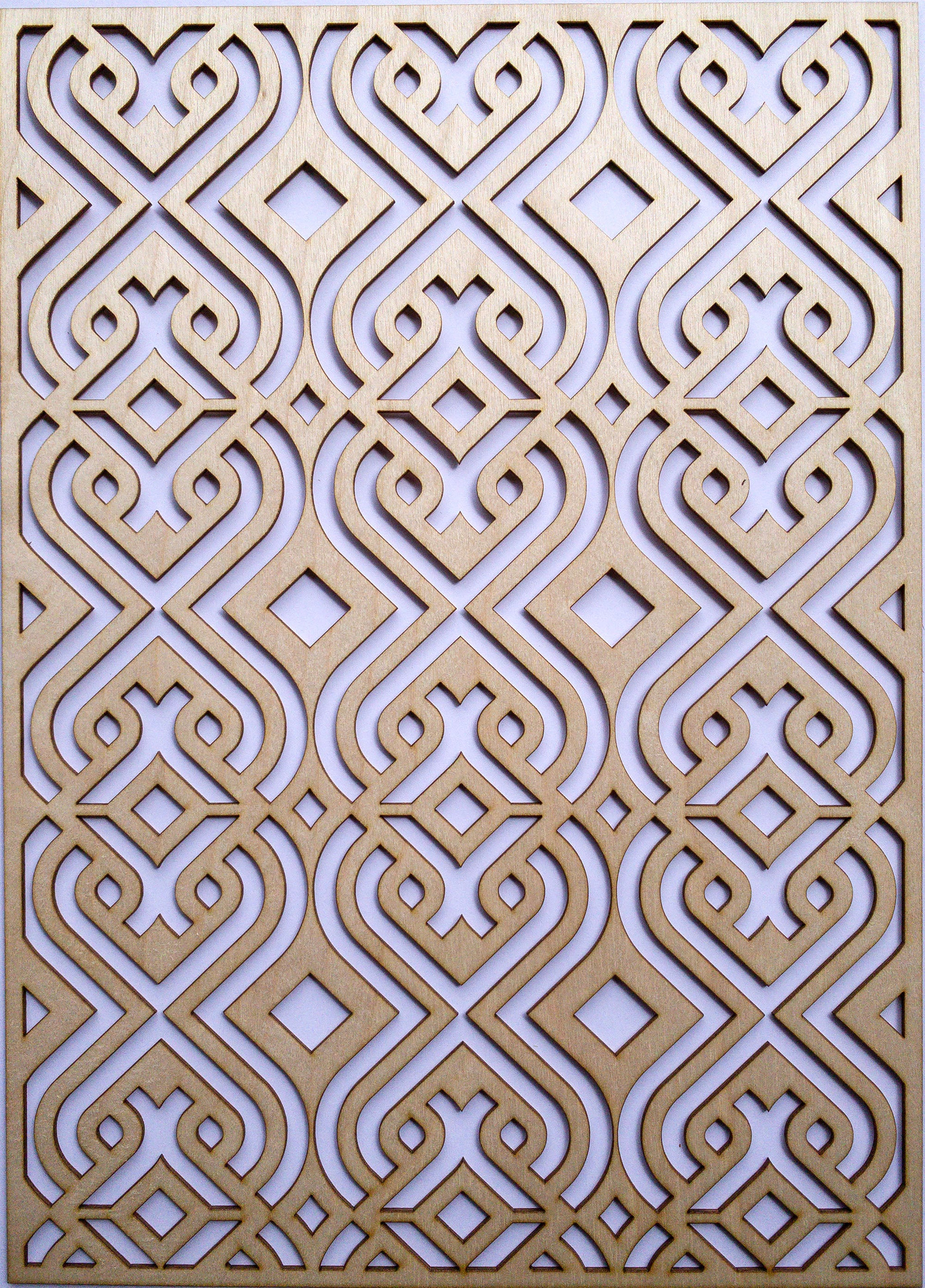 Moroccan wooden onlay panel -stencilup.co.uk