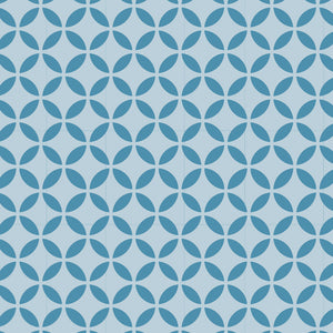 Elapsed circles craft stencil seamless pattern