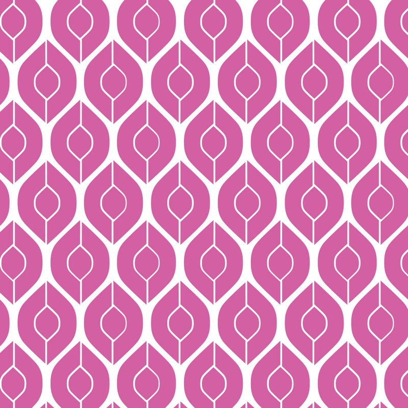 Retro Tulips repeating seamless pattern
