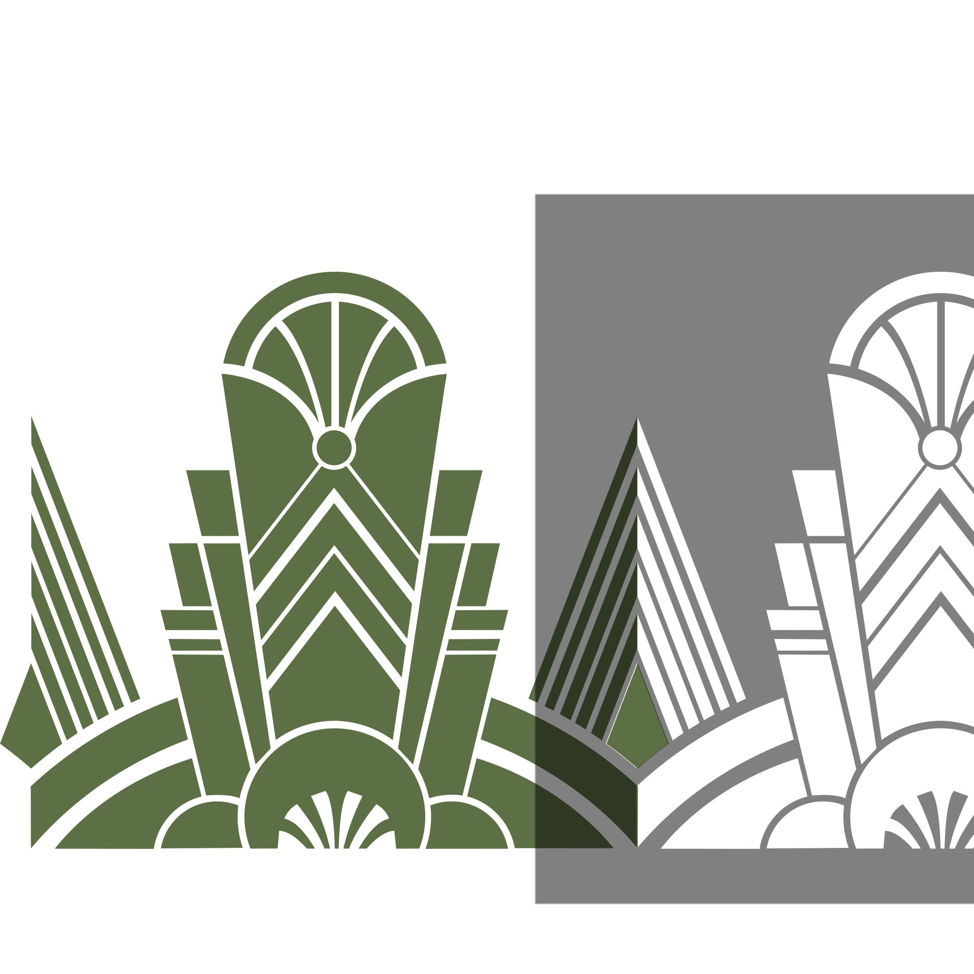 Decadent Deco - Art Deco stencil - stencilup.co.uk