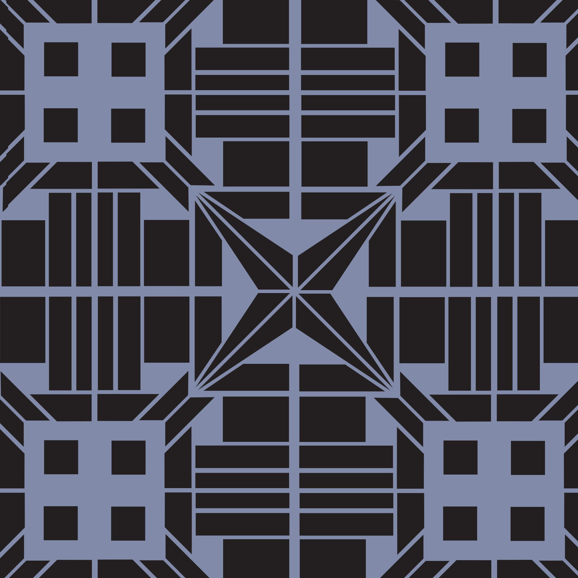 Art Deco tile stencil for painting tiles - stencil.co.uk