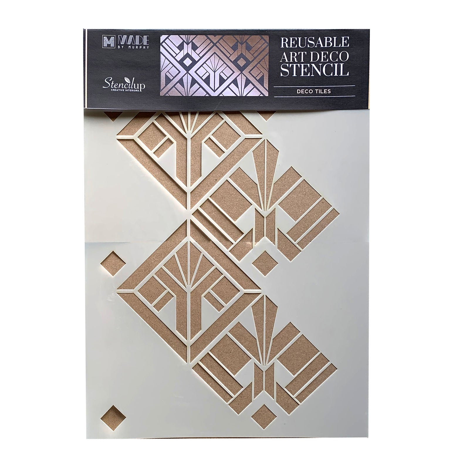 art deco tile stencil - stencil.co.uk