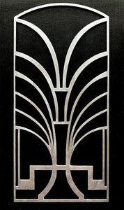 Deco Dreams art deco wooden panel for furniture - stencil.co.uk