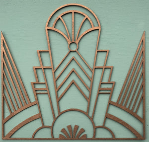 Decadent Deco Art deco wooden furniture panel - stencil.co.uk