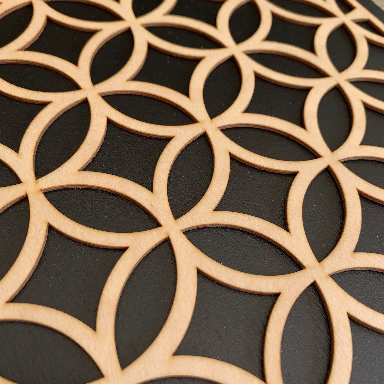 Ellipsed Circles wooden inlay / onlay