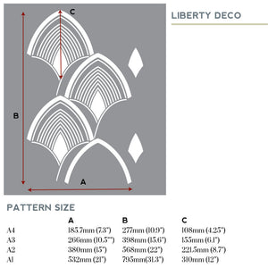 Liberry art deco stencil for painting - stencilup.co.uk