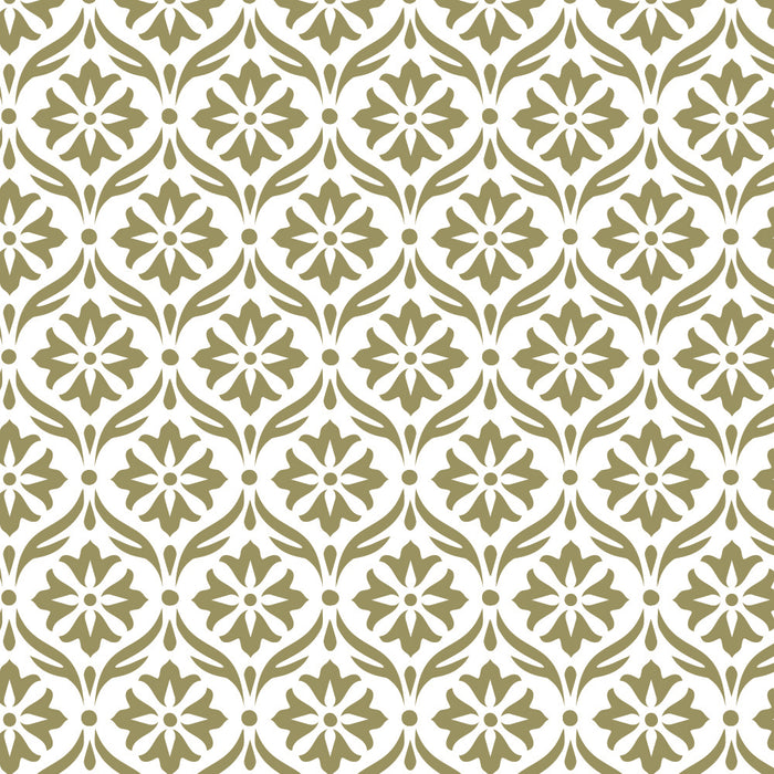 Simple Damask stencil repeating pattern