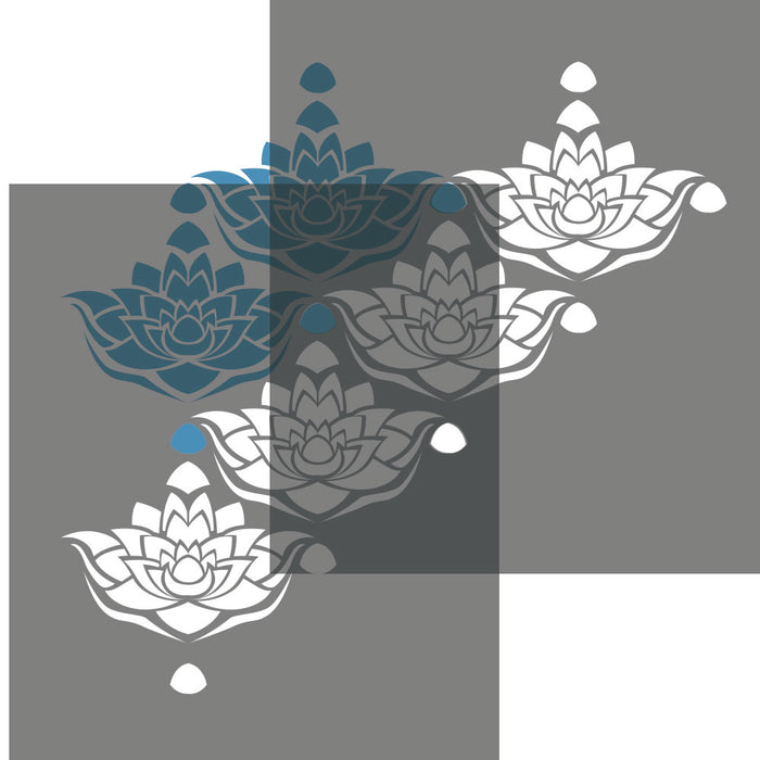 LOTUS FLOWER CRAFT STENCIL