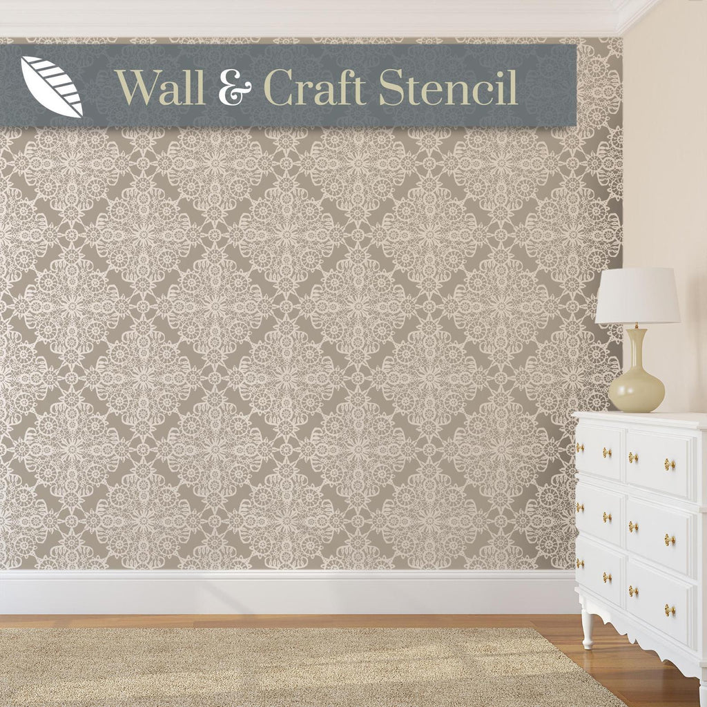 irish lace wall stencil