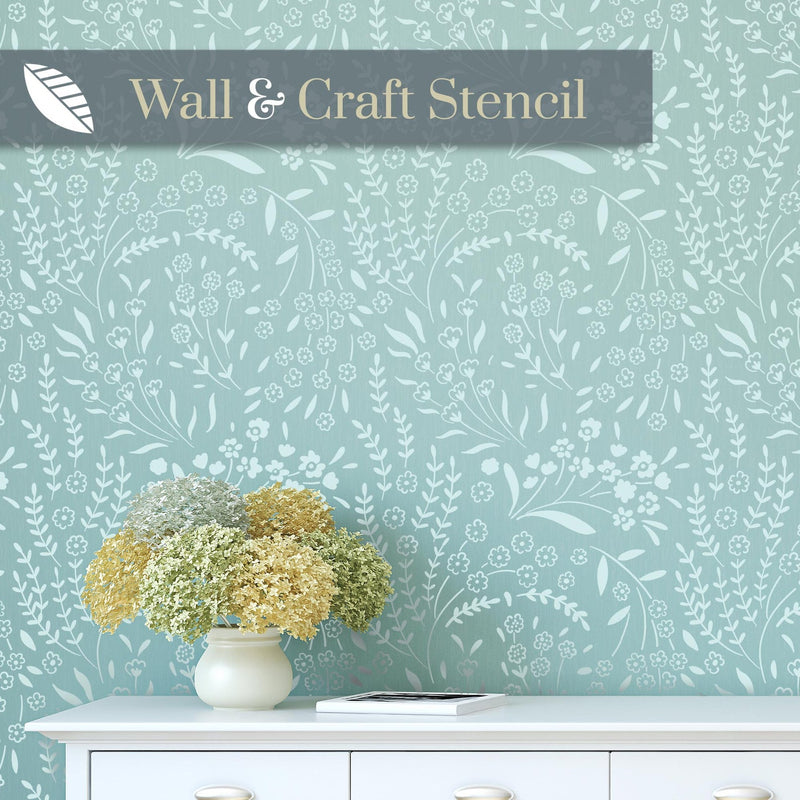 Forget-me-not wall stencil