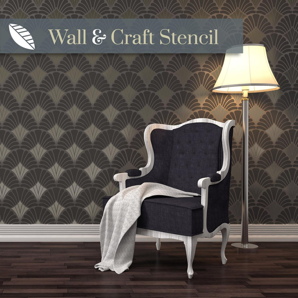 Art deco wall stencil - stencil.co.uk