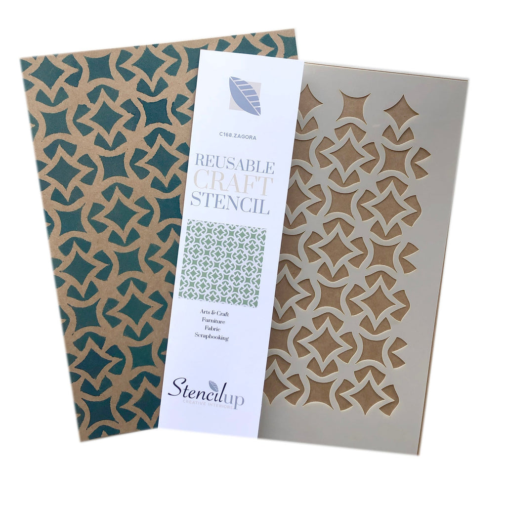 Zagora Lattice Craft Stencil