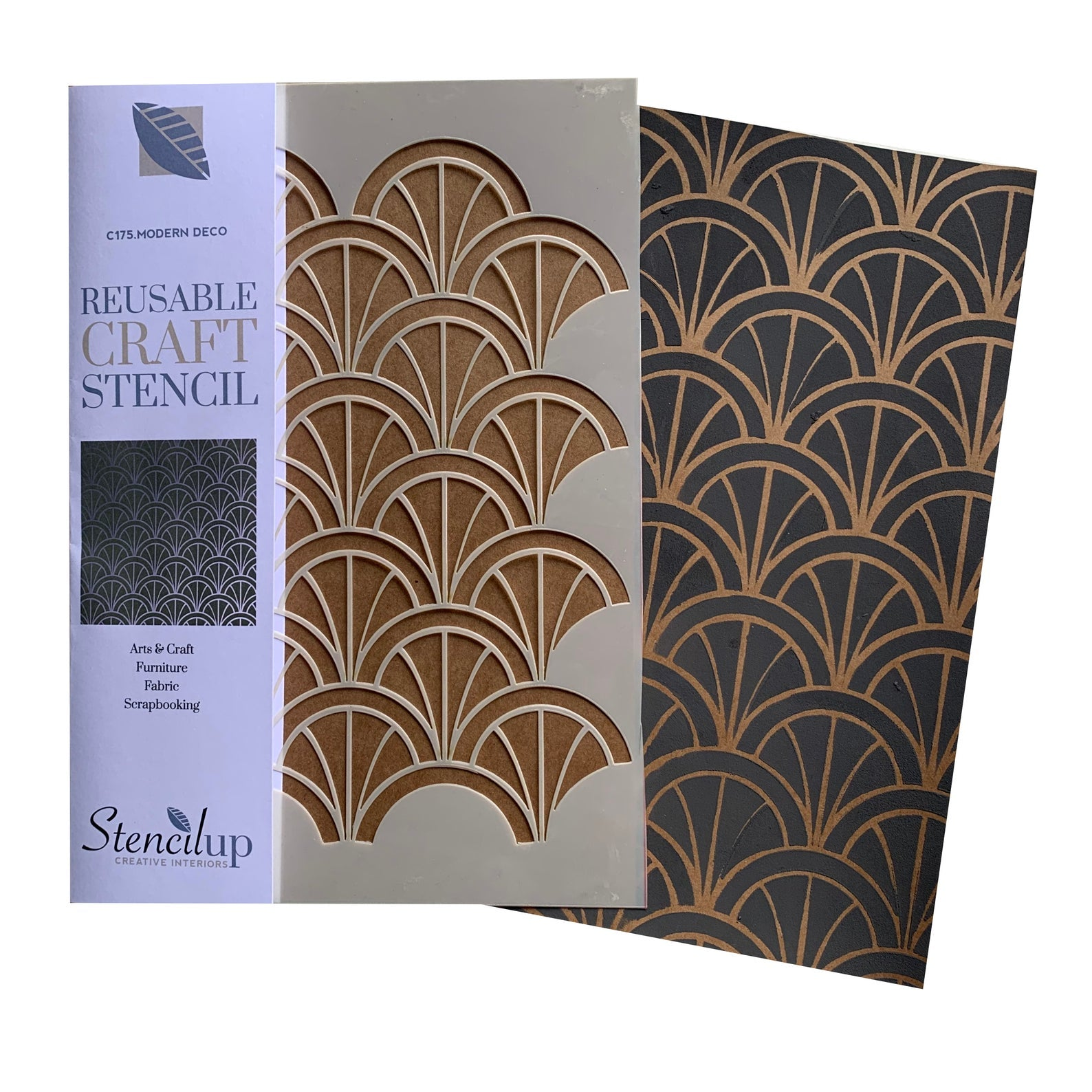 Modern Deco Arches (small) craft stencil